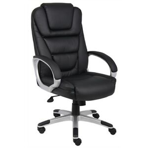 Boss ntr Executive Leatherplus Chair W Knee Tilt