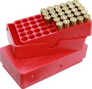Slip-Top Ammo Box 50 Round For .45 Cal 11mm Heavy Plastic Ammunition Storage Red