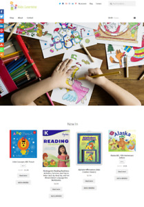 Kids Learning Ecommerce Website Business For Sale Unlimited Stock Shopping Cart