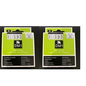 2pk Black On Clear Tape Label Compatible For Dymo 43610 D1 6mm 1 4
