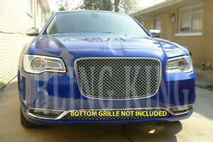 Fits 2015 2020 Chrysler 300 Chrome Mesh Grill Bentley Grille Full Replacement