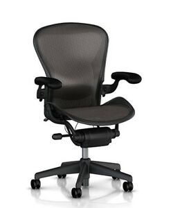 Set Of 3 Herman Miller Fully Loaded Posture Fit Size B Aeron Chairs