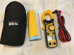 Ideal 61 744 Clamp pro Clamp Meter 600 Amp Volt Ohm Meter