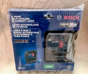 Bosch Gpl 3 S 100 Ft 3 point Self leveling Alignment Laser