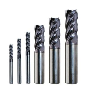 Carbide End Mill Set Sizes 1 8 1 2 Rip Cutting Tools 6 pc 4 flute Se Altin Hp