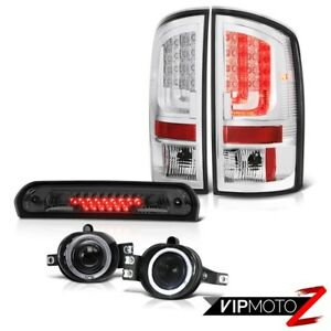 02 06 Dodge Ram 1500 2500 Slt Tail Lights Fog Lamps High Stop Light Tron Style
