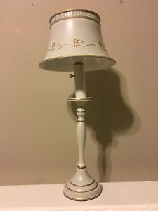 Tole Desk Lamp Vtg Mid Century Library Reading Table