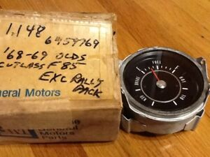 1968 1969 Oldsmobile Cutlass 442 Nos New Old Stock Fuel Gauge Tested Working