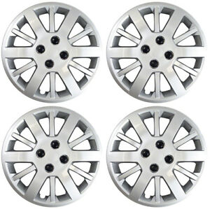 New Set Of 4 15 Inch Silver 12 Spoke Aftermarket Wheel Covers