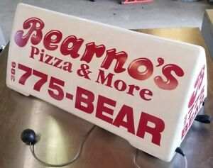 Hth Quad Big Magnetic Triangle Car Roof Top Sign Pizza Delivery Sign