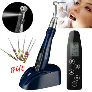 Dental Led Wireless Cordless Endo Motor Root Canal Treatment Contra Angle Gift