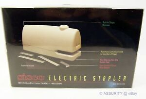 Sisco Electric Stapler Full Featured Automatic Stapling Staple Remover More New