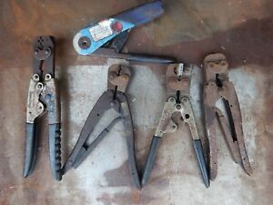 Crimpers For Wire Terminals 5 Sets 1 Lot