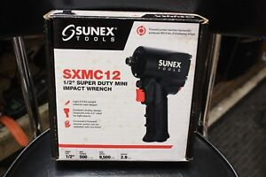 Sunex 1 2 Super Duty Mini Air Impact Wrench Compact With Grip 500 Ft Lbs Sxmc12