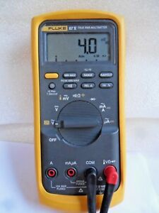 Very Clean Used Fluke 87v True Rms Digital Multimeter W Leads Works 87 5 87 V