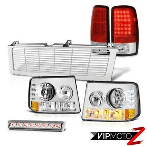 01 02 03 04 Chevy Tahoe Headlamps Led Tail Lights Roof Brake Cargo Chrome Grille