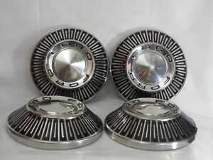 Ford Galaxie Fairlane 10 1 2 Dog Dish Poverty Hubcaps 4