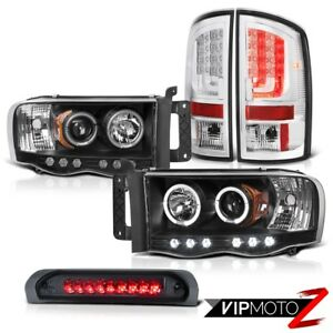 02 05 Dodge Ram 2500 3500 5 9l Euro Clear Taillamps Headlights Roof Cargo Lamp