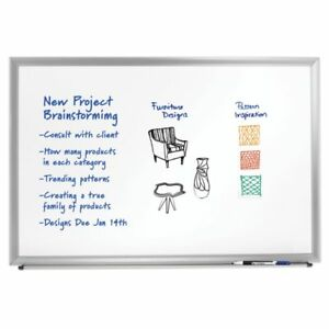 Foray Aluminum framed Dry erase Board With Marker 36 X 48 White Board