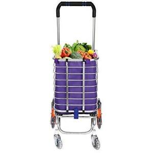 us Stock Portable Shopping Cart Aluminum Shopping Cart With Swivel Folding Up