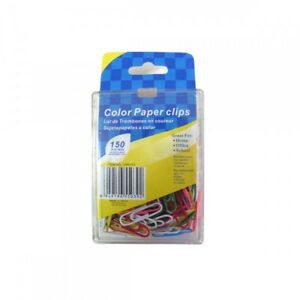 Wholesale Lot Of 24 Units Colored Paper Clips 150 Per Package In Assorted Colors