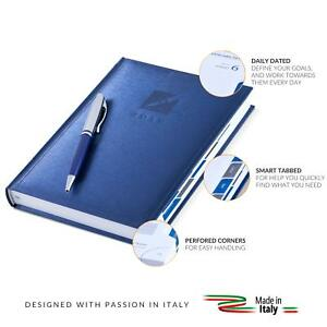 5 7 x8 Premium Daily Planner 2019 Daily Dated Organizer Perforated Corner Blue