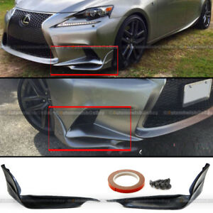 For 14 16 Is250 Is350 F Sport Only Tr d Style Pu Front Bumper Lip Splitter Kit