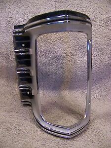 1971 Chrysler Imperial Lh Turn Signal Grill Bezel Lebaron Crown Coupe 3403539