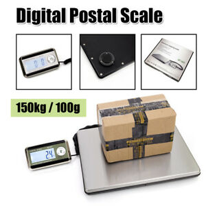 Smart Weigh 150kg 100g Digital Lcd Shipping Postal Scale Heavy Duty Abs Steel Us