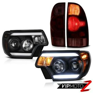 2012 2015 Toyota Tacoma X Runner Headlights Graphite Smoke Tail Lamps Tron Tube