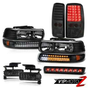 00 06 Chevy Tahoe Lt Headlamps Bumper Lamp Smoked Tail Lamps Fog High Stop Light