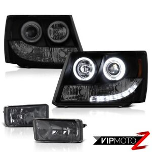07 14 Chevrolet Tahoe Ccfl Angel Eye Halo Ring Headlights Fluorescence Headlamps