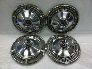 Vintage Set Of 4 1968 Chevrolet 14 Hubcaps Chevelle Good Condition