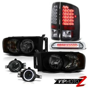 02 05 Dodge Ram 1500 2500 Ws Headlamps Smokey Fog Lamps Roof Cab Lamp Tail Smd