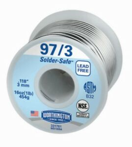 Lot Of 2 Worthington Industries Lead Free 1 Lb 97 3 Wire Spool Solder 331761