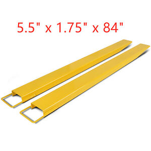 84 X 5 5 Pallet Fork Extensions For Forklifts Lift Truck Slide On Steel New