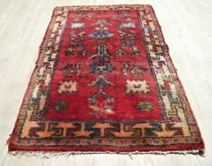 Handwoven Oriental Turkish Small Kilim 27x41 Wool Bedroom Rug Old Rustic Tapis