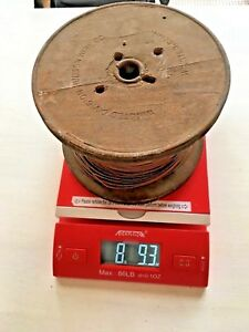 Vintage Spool Of Copper Wire 8 9 Lbs L9