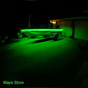 Green Led Boat Light Deck Waterproof 12v Bow Trailer Pontoon Lights Kit Marine