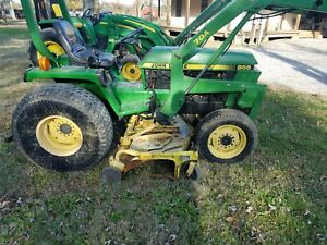 John Deere 955 4wd With Loader And Belly Mower