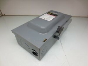 Square D D223n Safety Switch Disconnect 100amp 240v 2 Pole Fusible
