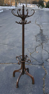 Antique Orig Gebruder Thonet Bentwood Coat Hat Rack C 19o4 Umbrella Hall Tree