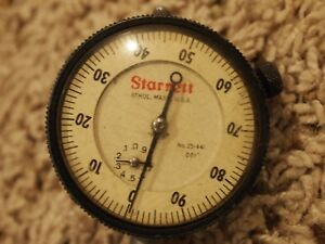 Starrett 25 441 Dial Indicator 001 1 Inch Travel Usa Pre owned Nice Condition