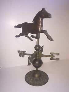 Horse Weathervane Copper And Brass Stand 15 In Tall Desktop