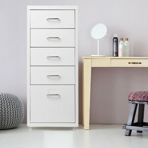 Ikayaa Metal Mobile Steel Drawer Filing Cabinet Detachable White S0a5