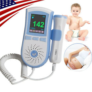 Blue Fetal Doppler Color Lcd Baby Heart Monitor Listen To The Baby Sound Fda Usa