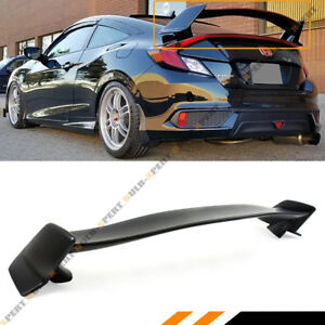 For 2016 19 10th Gen Honda Civic 2 Dr Coupe Ctr Type R Style Trunk Spoiler Wing
