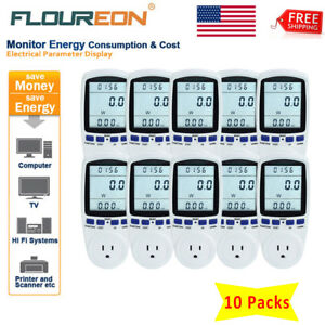 Lcd Digital Plug in Power Meter Energy Monitor Power Energy Volts Amps Analyzer