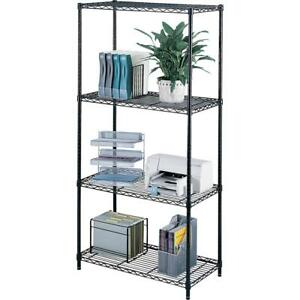 Safco Industrial Wire Shelving 36 X 18 X 72 4 X Shelf ves Rust