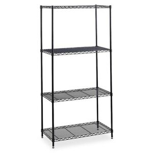 Safco Industrial Wire Shelving 36 X 24 4 X Shelf ves 2500 Lb Load